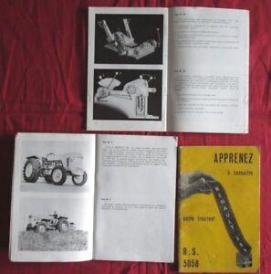 Tracteur Renault 385 Type R.s.5058 Notice D'entretien D'epoque En Français RafraîChissant Et BéNéFique Pour Les Yeux
