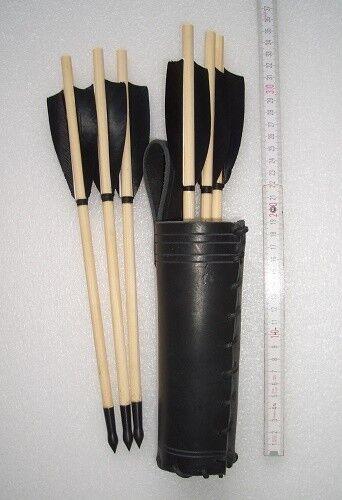 6 bulloni in legno storica storica storica tradizionale Mauro con pelle faretra madebybinder c79087