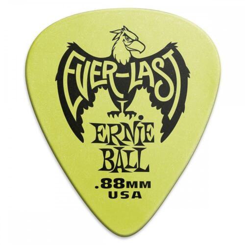 Ernie Ball Everlast Guitar Picks//Plectrums 12 pack Green .88mm
