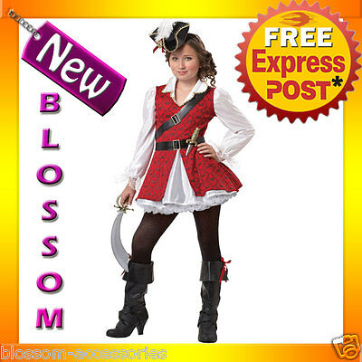 CK67 Captain Cuteness Pirate Girls Child Halloween Fancy Dress Up Party Costume