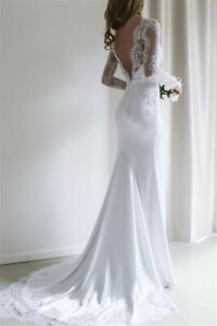 Mermaid-Wedding-Dress-2020-Chiffon-and-Satin-and-Lace-Long-sleeve-Wedding-Dress