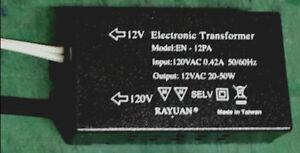 50W Electronic Transformer 120V to 12V MR16 Halogen LAMP LED LAMP