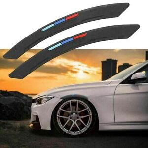 M-Color Sport Wheel Eyebrow Arch Lips Fender Guard Protector Strips Trim for BMW