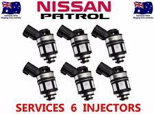 6 FUEL INJECTORS SUIT NISSAN PATROL GU TB48DE 4.8L 6 CYL 01-07 INJECTOR