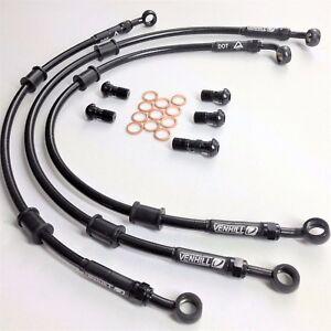 HONDA-CB900F-HORNET-2002-07-VENHILL-F-amp-R-s-steel-braided-brake-lines-hoses-RACE