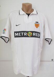 5aa67db463 A imagem está carregando Valencia-2002-2003-Camisa-De-Futebol-Casa-Soccer-