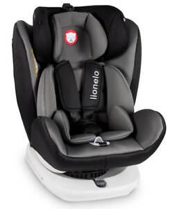 lionelo bastiaan isofix kindersitz grau 360 grad baby autositz von 0 12 jahre ebay. Black Bedroom Furniture Sets. Home Design Ideas