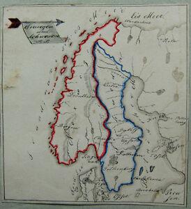 Karte Skandinavien.Details Zu Gezeichnete Karte Von Skandinavien 19 Jhdt
