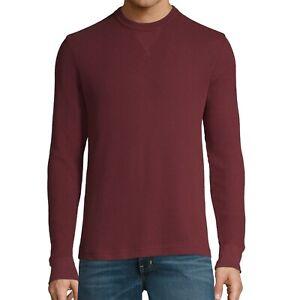 Mens REALTREE Team Cotton Blend Thermal LS Waffle Knit Blue Crewneck Shirt SZ XL