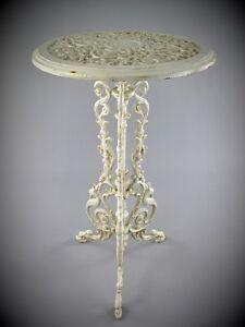Tische Blumentisch Eisen Antik Weiß Geschenk Vintage Haus Garten Balkon Terrassen Möbel Möbel