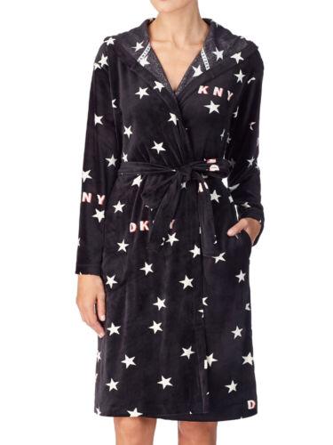 DKNY Urban Mindset Robe 2119480 Dressing Gown Warm Soft Hooded Branded Bathrobe