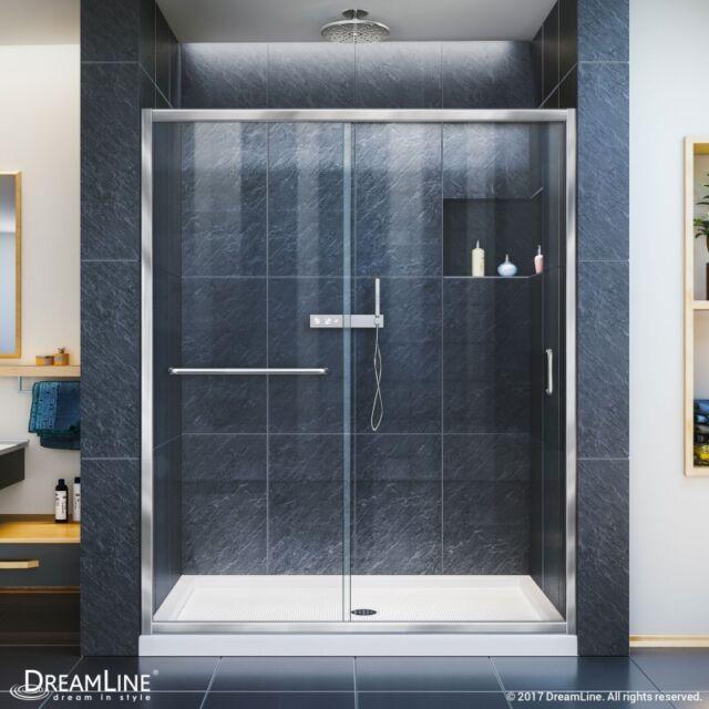 Dreamline Infinity Z 56 To 60 Frameless Sliding Shower Door Ebay