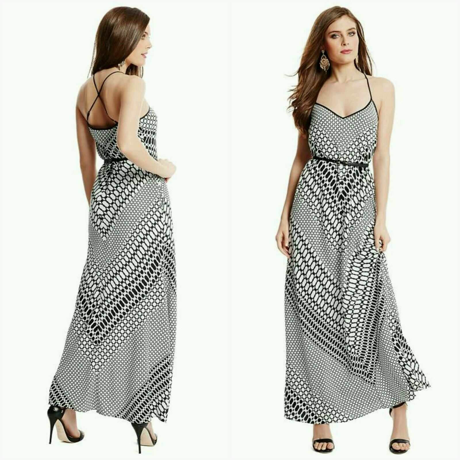 NWT GUESS BY MARCIANO Lux Link Maxi Dress SIZE S