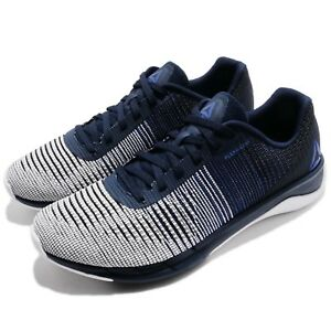 ca261718d70500 Reebok Fast Flexweave Black White Navy Men Running Shoes Sneakers ...