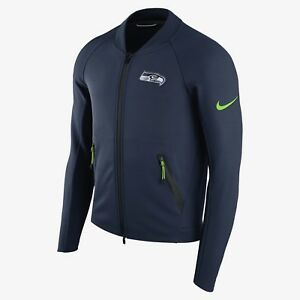 dfa86a1ff mens S M XL niKe seattle Seahawks coaches sideline therma zip jacket ...