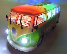 großer VW Bulli flower power 70er mit Musik und toller Beleuchtung, Licht, NEU
