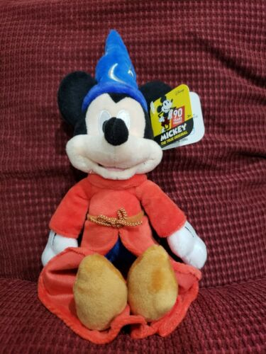 "Disney Mickey Mouse 90 Years Sorcerer's Apprentice 10"" Plush New with Tag"