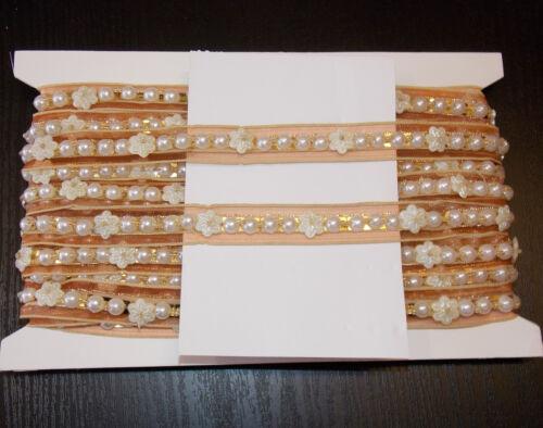 Grano De Oro Joya Lentejuelas Malla Disfraz Indio boda perla del Rhinestone de la cinta