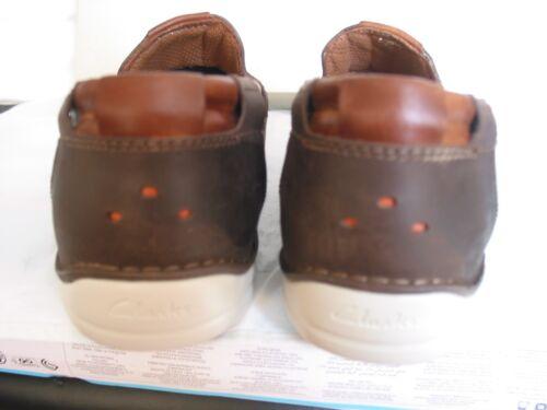 Sail Graysen cuero marrón Clarks Nuevos Un Structured tamaños zapatos varios UnqHwHTxO