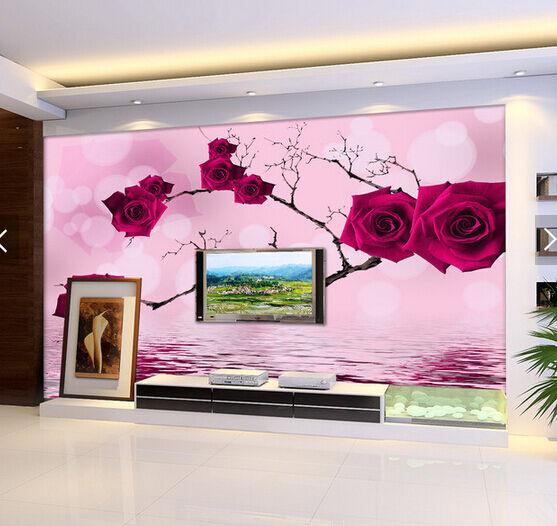 3D ROT Roses Twig 546 Wall Paper Wall Print Decal Wall AJ WALLPAPER CA