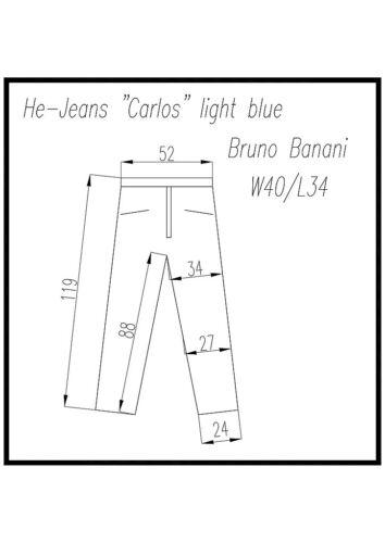 """JEANS Uomo /""""Carlos/"""" nuovo con etichetta di /""""Bruno Banani/"""" Light Blue"""