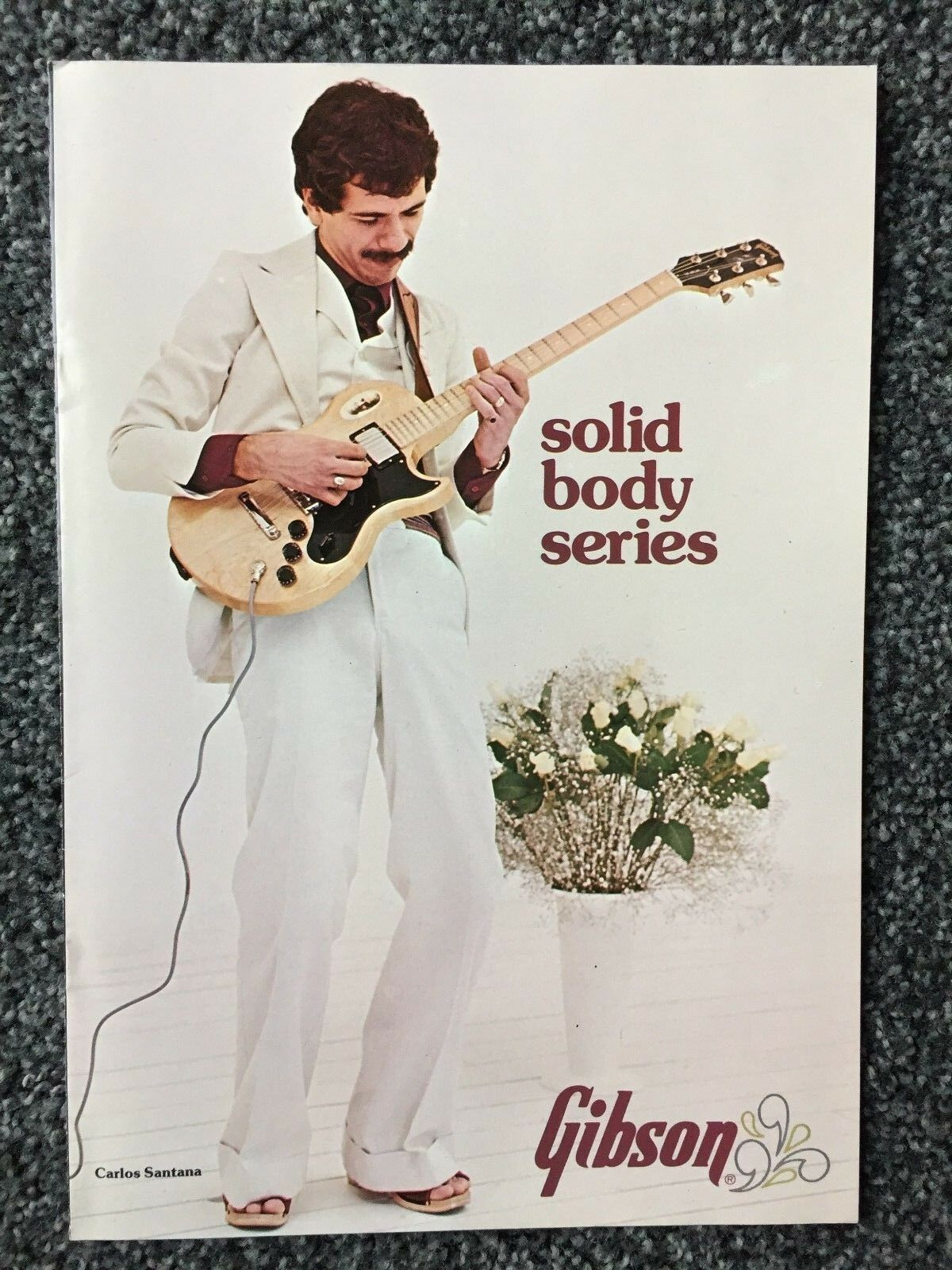 1975 Original Gibson Solid Body Series- 12 page Brochure-MINT
