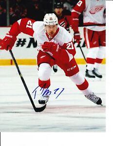 Detroit Red Wings Tomas Tatar Signed Skating Hard 8x10 Ebay