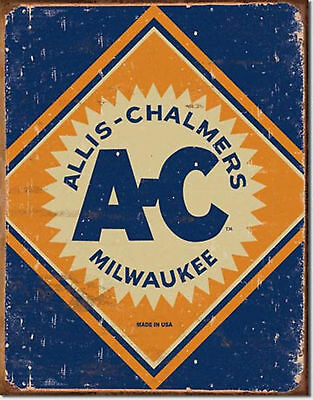 Allis Chalmers Tractor Milwaukee Logo  Metal Sign Tin New Vintage Style #1503