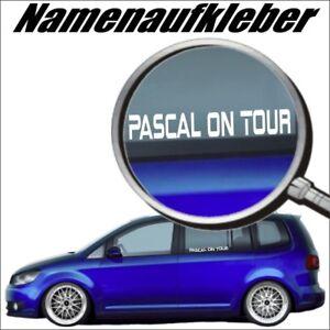 Baby on Tour, Namenaufkleber<wbr/>, Domain Aufkleber, Autoaufkleber Wunschtext GRN04