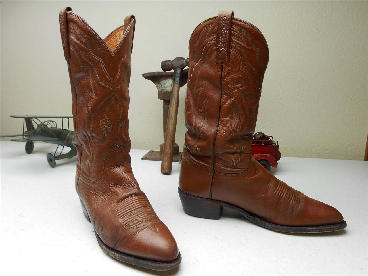De Cuero Marrón Lucchese Cowboy Western Rockabilly Rodeo botas EE