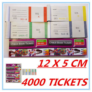 image is loading 4000 raffle tickets check book tickets 1 100