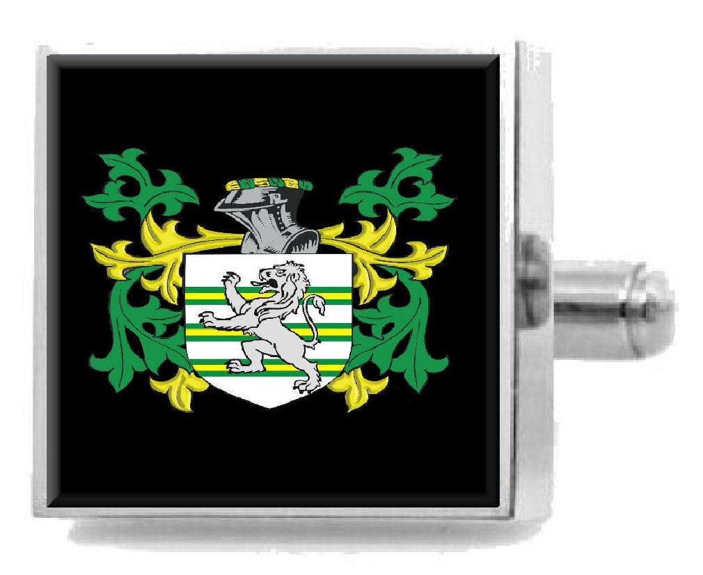 Aspro Inghilterra ARALDICA STEMMA argentoo argentoo argentoo Sterling Gemelli incisi finestra di messaggio 9bb3d9