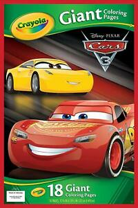 Crayola Disney Pixar Cars 3 Giant Coloring pages, 18 Page ...