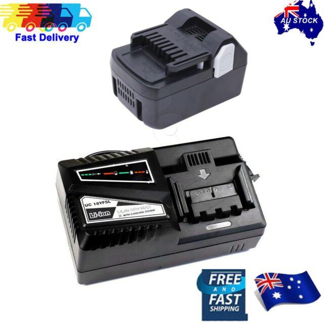 Battery for Hitachi 18V 4.0AH BSL1815 BSL1830 BSL1840 BSL1850 + Battery charger