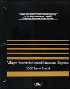 Details about 2000 Mercury Villager Engine Emissions Diagnosis Manual  Diagnostic Trouble Codes
