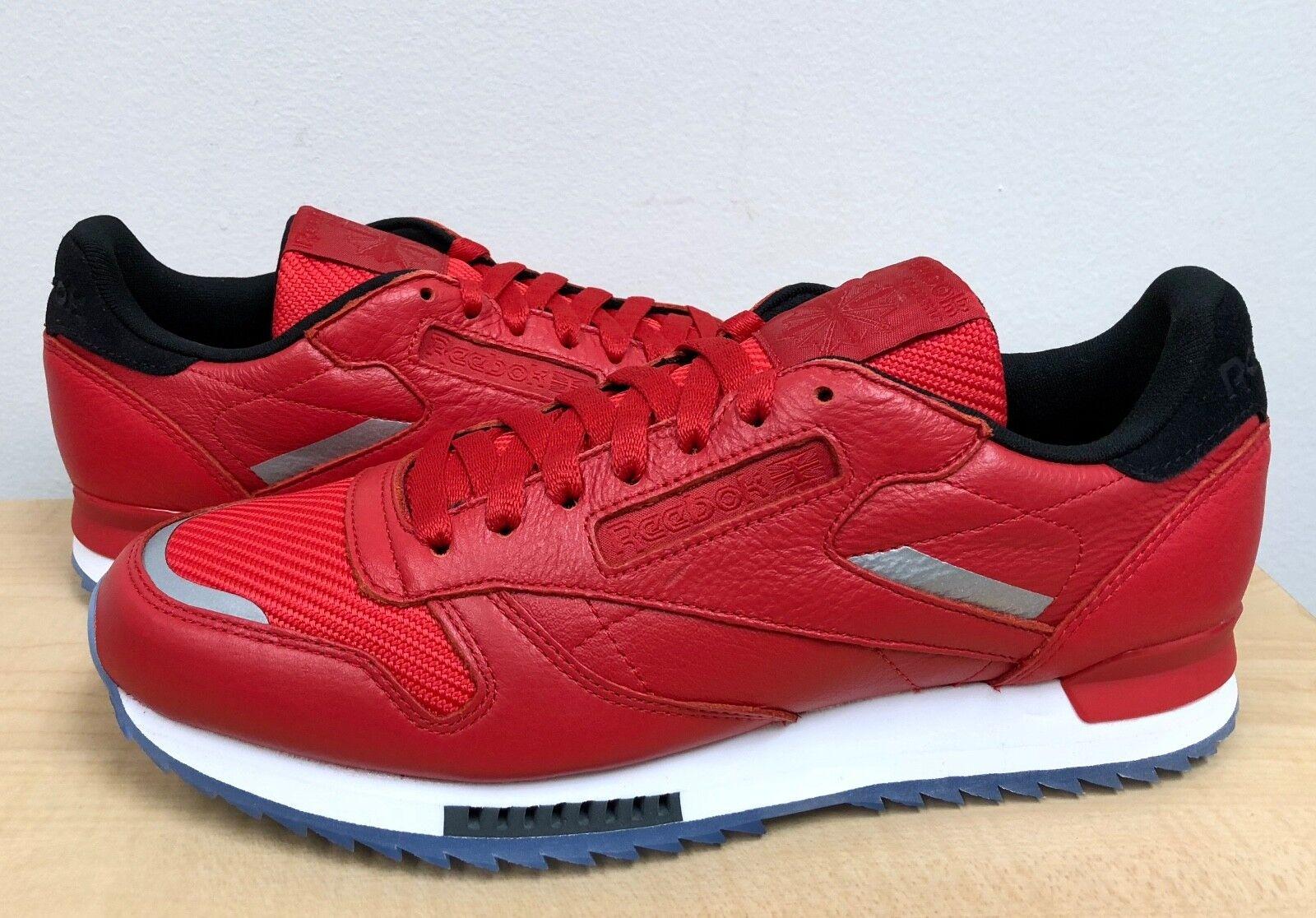 Para Hombre Reebok Classic Leather ondulación baja BP Primal Rojo blancoo Negro  BS5250