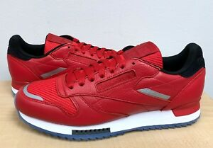 d00d208ad396 MENS REEBOK CLASSIC LEATHER RIPPLE LOW BP Primal Red White Black ...