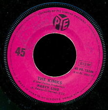 THE KINKS 45 TOURS FRANCE PARTY LINE