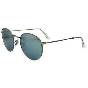 4fc0a7903eed2 Ray-Ban Sunglasses Round Metal 3447 019 30 Silver Flash Mirror ...