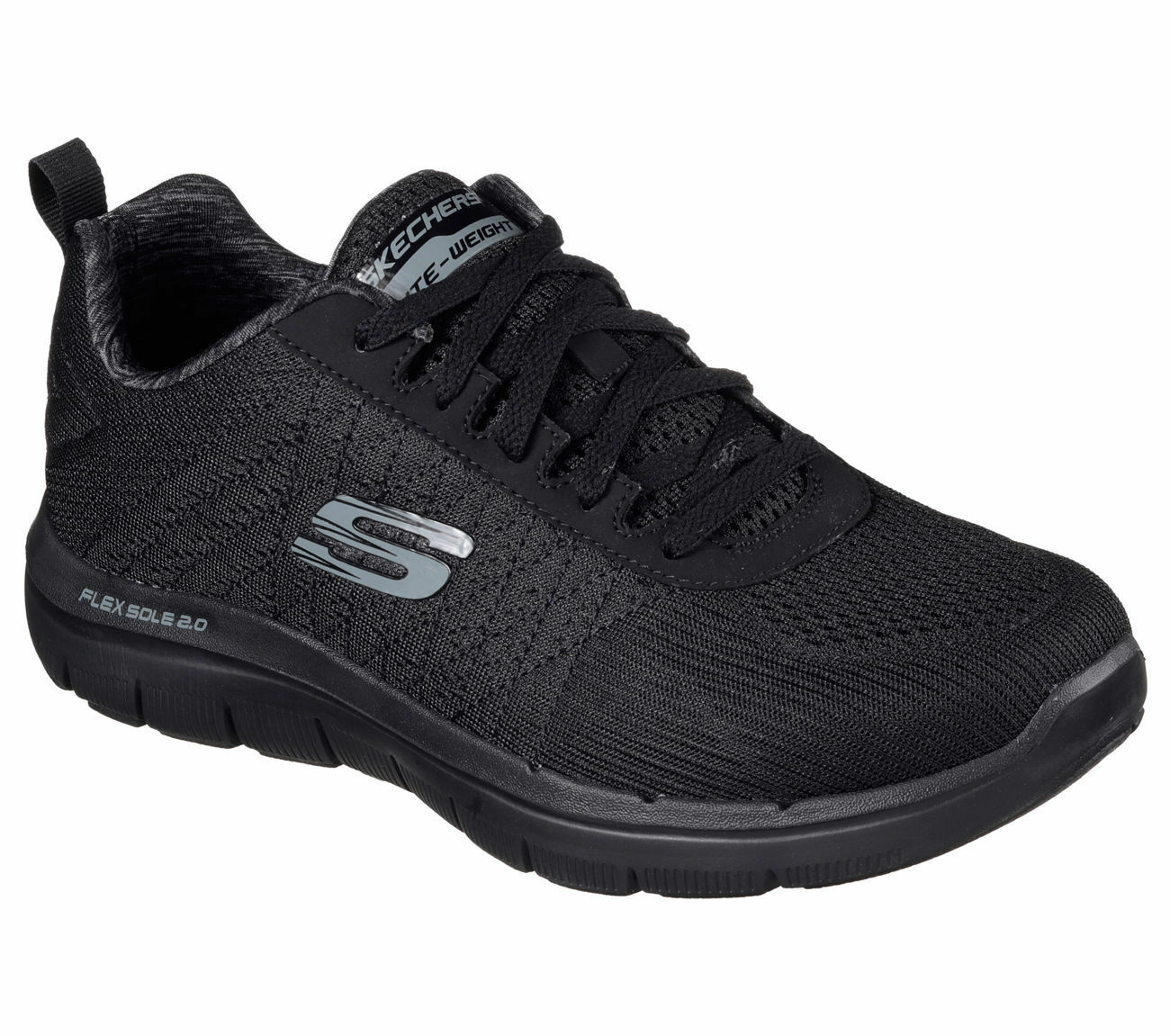 52185 Black W Wide Fit Skechers Shoes Men Memory Foam Sport Run Train Mesh Light