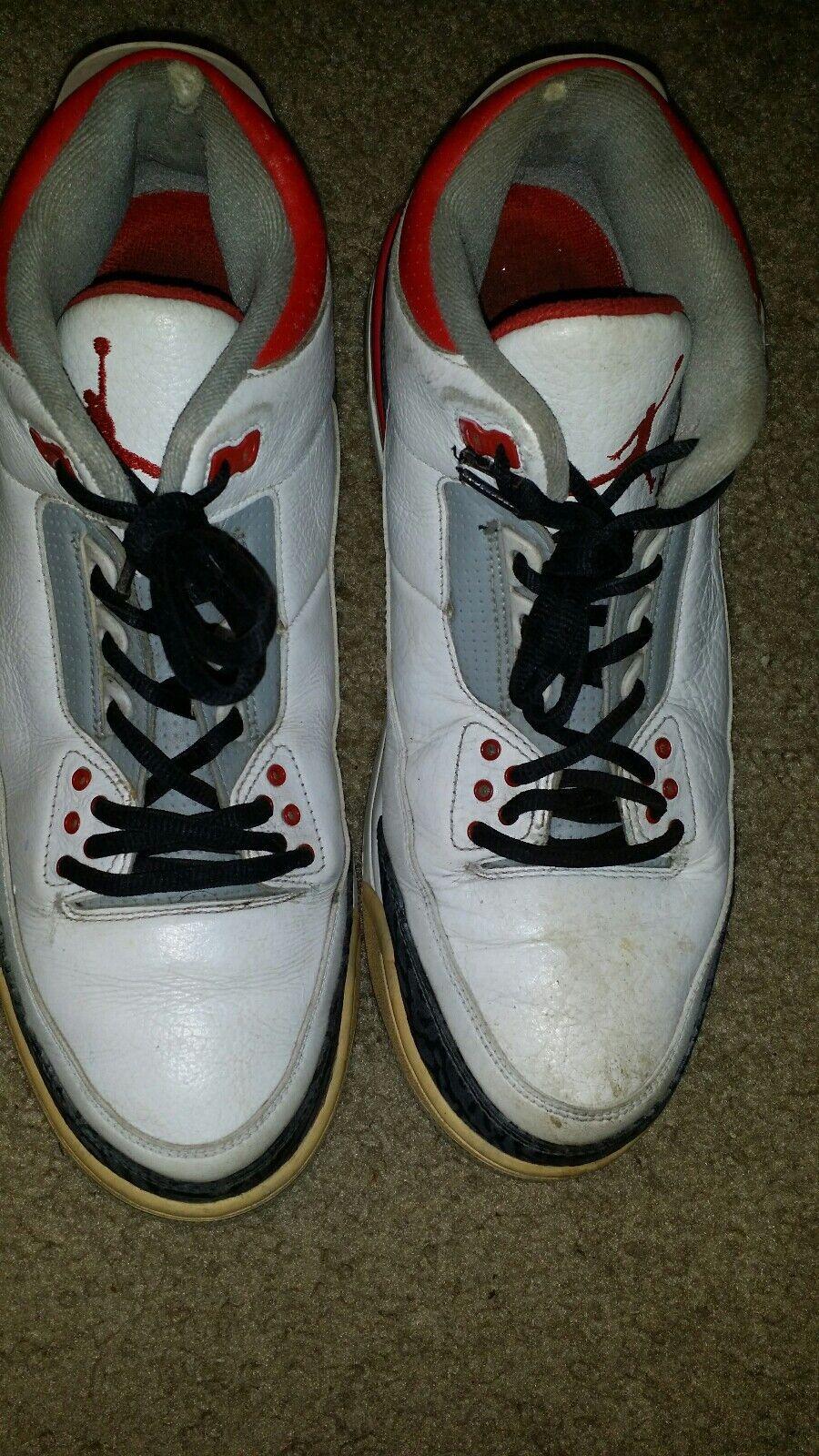 2013 Air Jordan Retro 3 Fire Red SIZE 11.5  136064-120 NO BOX