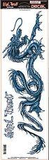 Lethal Threat Sticker Aufkleber XL Blue Dragon Ideal für Auto und Truck Drachen