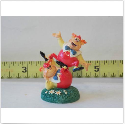 Tweedle Dee & Dum Alice In Wonderland Fairy Garden Dollhouse Miniatures Trains