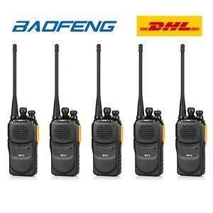 5-Baofeng-GT-1-UHF-PMR-400-470Mhz-Radio-EMISORA-Transceptor-Yellow-Walkie-Talkie