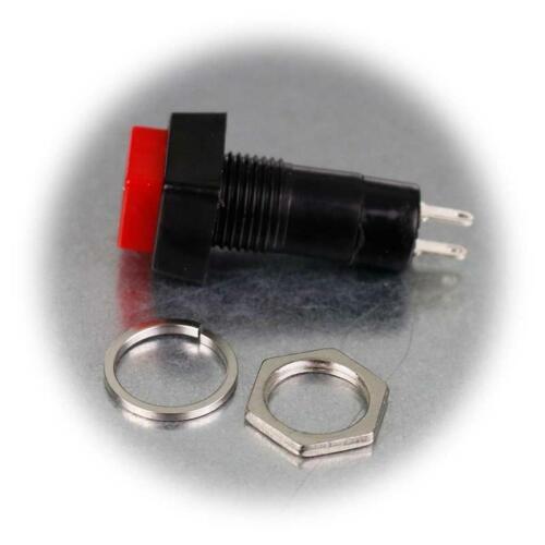 5x Drucktaster eckig rot 17x40mm 1-polig Taster Push-ON