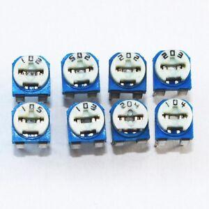 8x-Trimmer-Trimmpoti-Sortiment-Auswahl-1KOhm-1MOhm-RM065-V1-8-Stueck