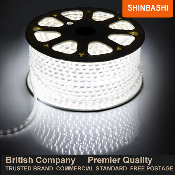 Premier 220v 230v Cool blancoo Led Smd 3528 cinta tiras Cuerda Luces 5m 10m 15m