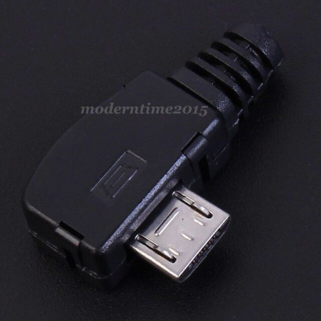 10pcs Short Micro USB Male Connector Adapter Right Angle DIY Components Black
