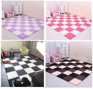 Soft Foam EVA Kids Floor Mat Jigsaw Tiles Interlocking Garden Play Gym Yoga Mats
