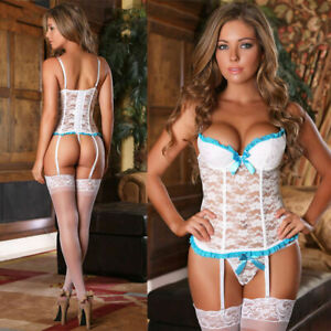 Xmas-Women-Sexy-Lingerie-Nightwear-Underwear-G-string-Babydoll-Sleepwear-Dress
